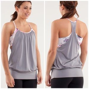 Lululemon No Limits Tank Fossil Blurred Blossoms